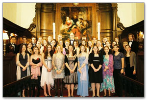 The Choir of the Corpus Christi College, Oxford